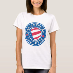 All-American Daughter Women's Basic T-Shirt