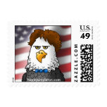 All American eagle, by Happy Simpleton Postage Stamp