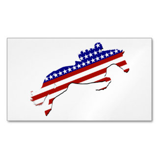 All-American Equestrian Rider Business Card Magnet