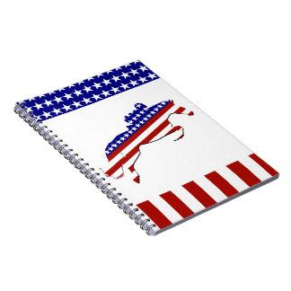 All-American Equestrian Rider Spiral Notebook