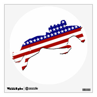 All-American Equestrian Rider Wall Decal