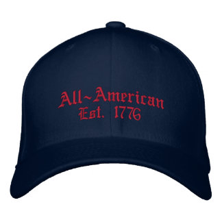 All-American, Est. 1776 Embroidered Baseball Hat