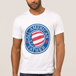 Men's Alternative Apparel Basic Crew Neck T-Shirt with All-American Father design
