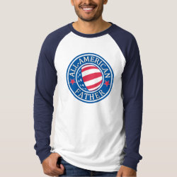 Men's Canvas Long Sleeve Raglan T-Shirt with All-American Father design