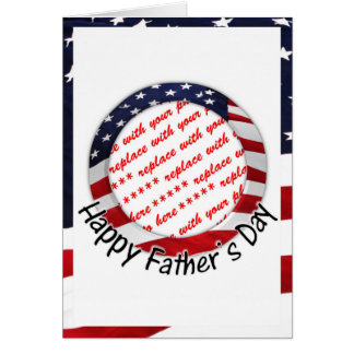 All American Father's Day Frame Card