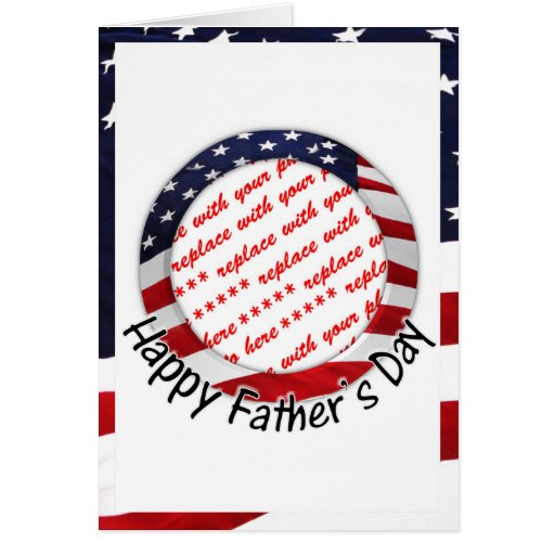 All American Father's Day Frame Greeting Cards