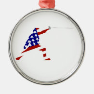 All-American Fencer / Fencing Metal Ornament