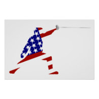 All-American Fencer / Fencing Poster
