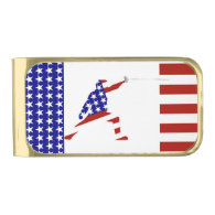 All-American Fencing Fencer Gold Finish Money Clip