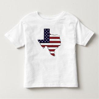 All American flag Texas outline kid's tshirt