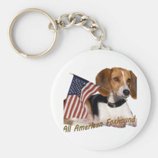 All American Foxhound Apparel & Gifts Keychain