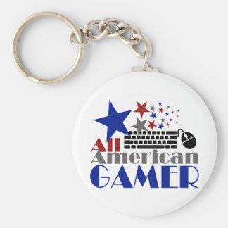All American Gamer Keychain