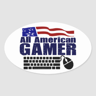 All American Gamer Oval Sticker