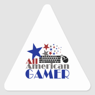 All American Gamer Triangle Sticker