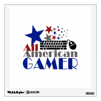 All American Gamer Wall Sticker