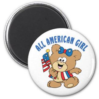 All American Girl Bear Fridge Magnets