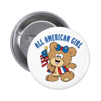 All American Girl Bear Pinback Button
