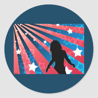 All American Girl Classic Round Sticker