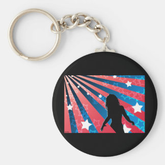 All American Girl Keychain