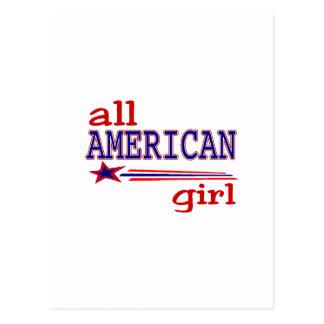 All American girl Postcard