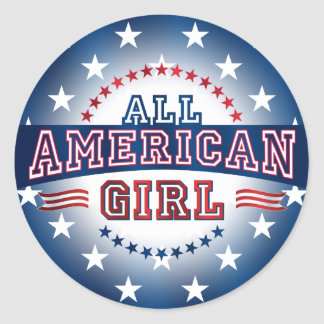All-American Girl Sticker