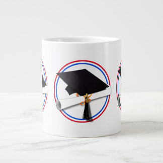 All American Grad - Red White & Blue Colors Extra Large Mug