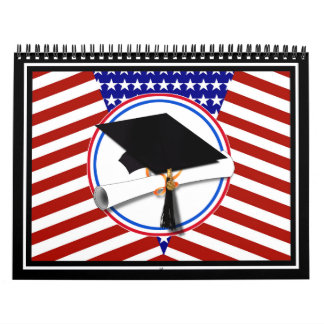 All American Grad - Red White & Blue on Stars Calendar