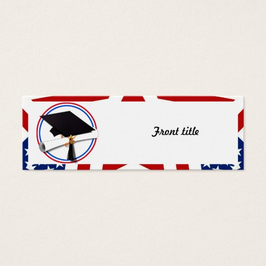 All American Grad - Red White & Blue on Stars Mini Business Card