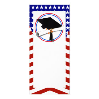All American Grad - Red White & Blue on Stars Rack Card