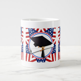 All American Grad - Red White & Blue on Stars Extra Large Mug