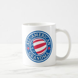 Classic White Mug with All-American Grandma design