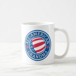 Classic White Mug with All-American Grandma design