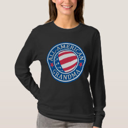 Women's Basic Long Sleeve T-Shirt with All-American Grandma design