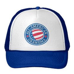 Trucker Hat with All-American Grandma design