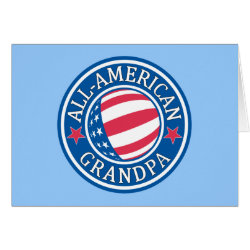 Greeting Card with All-American Grandpa design