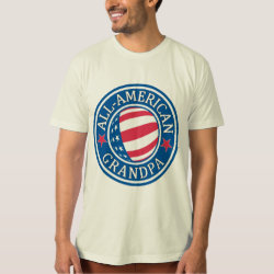 Men's American Apparel Organic T-Shirt with All-American Grandpa design