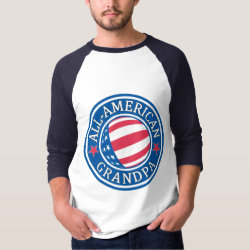 Men's Basic 3/4 Sleeve Raglan T-Shirt