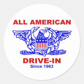 All American HAMBURGER Drive IN of Massapequa Classic Round Sticker