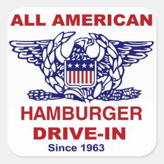 All American HAMBURGER Drive IN of Massapequa Square Sticker