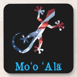 All American Hawaiian Gecko Beverage Coaster