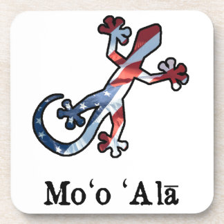 All American Hawaiian Gecko Drink Coaster
