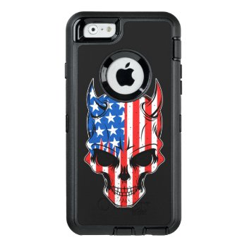 All-american Hellion Skull Otterbox Defender Iphone Case by NewImageDepot at Zazzle