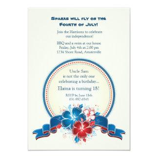 All American Hibiscus Invitation