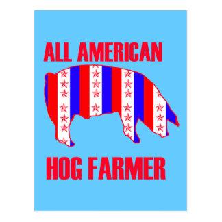 ALL AMERICAN HOG FARMER POSTCARD