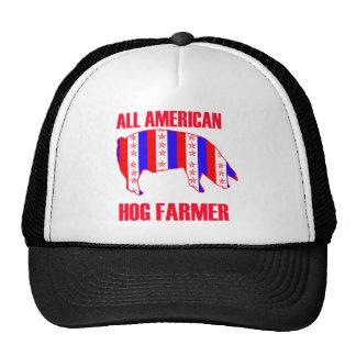 ALL AMERICAN HOG FARMER TRUCKER HAT