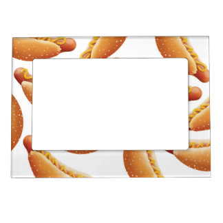 All American Hot Dog. Magnetic Photo Frame