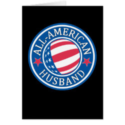 Greeting Card with All-American Husband design