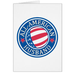 All-American Husband Greeting Card