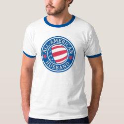 Men's Basic Ringer T-Shirt with All-American Husband design