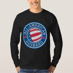 Men's Basic Long Sleeve T-Shirt with All-American Husband design